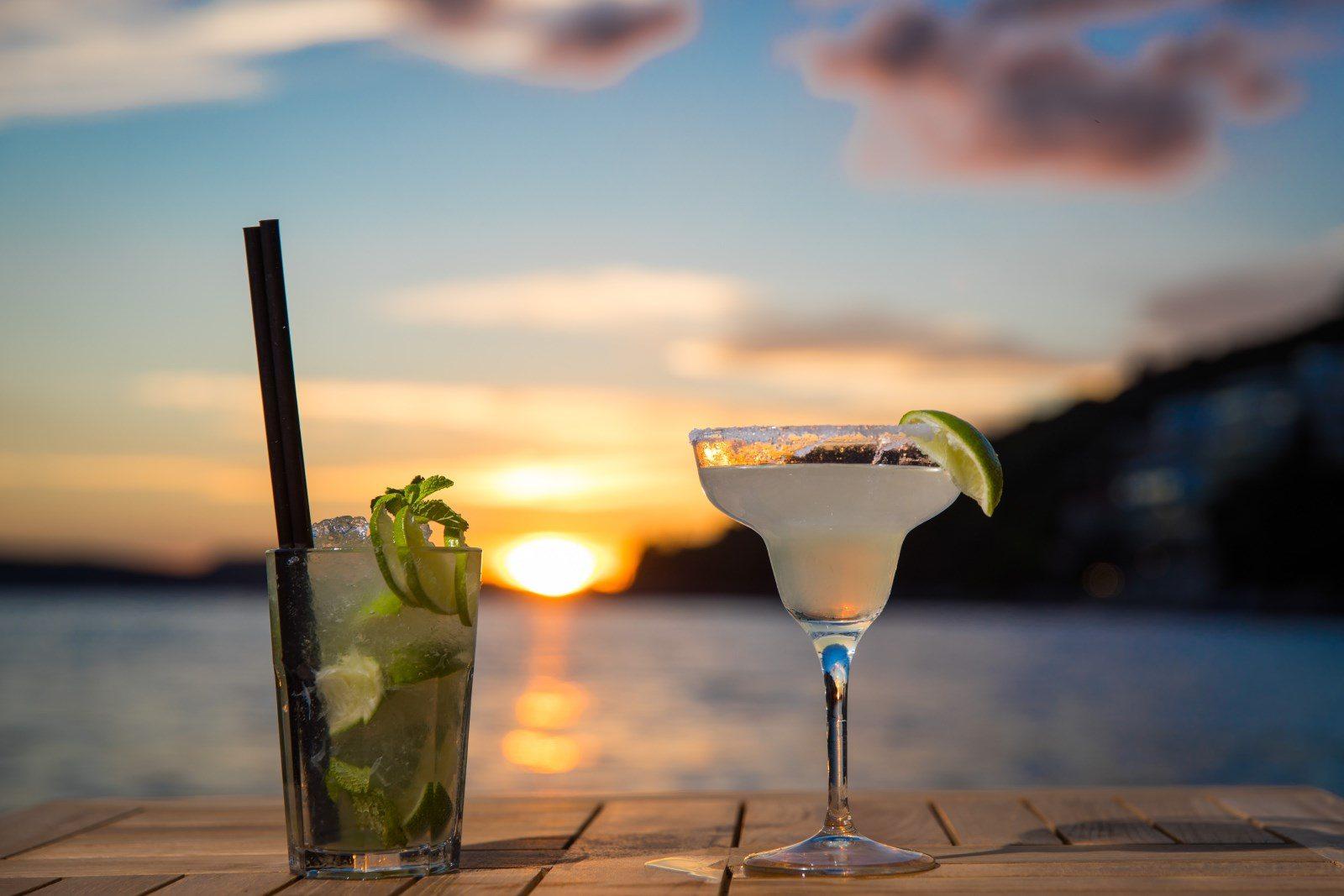 sunset beach dubrovnik bar photo