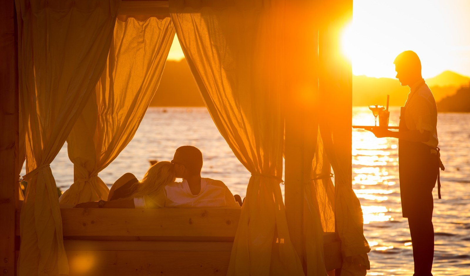 sunset beach dubrovnik bar view