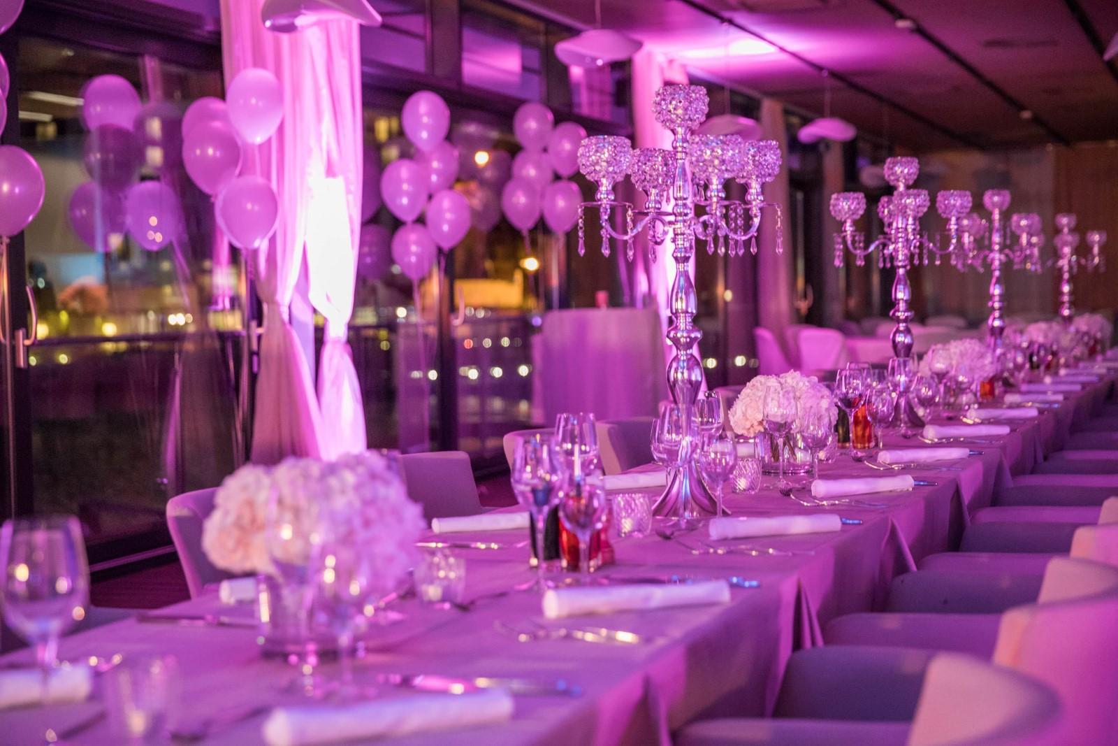 cutlery on wedding table