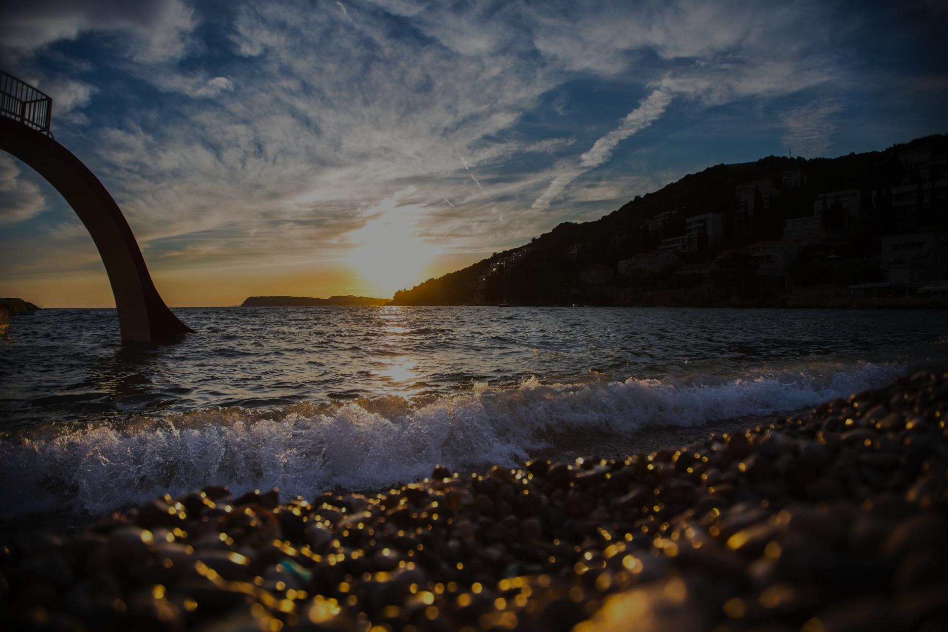 sunset beach dubrovnik uvala