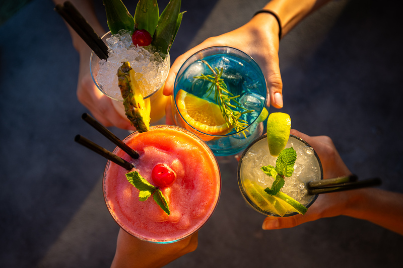 colorful cocktails