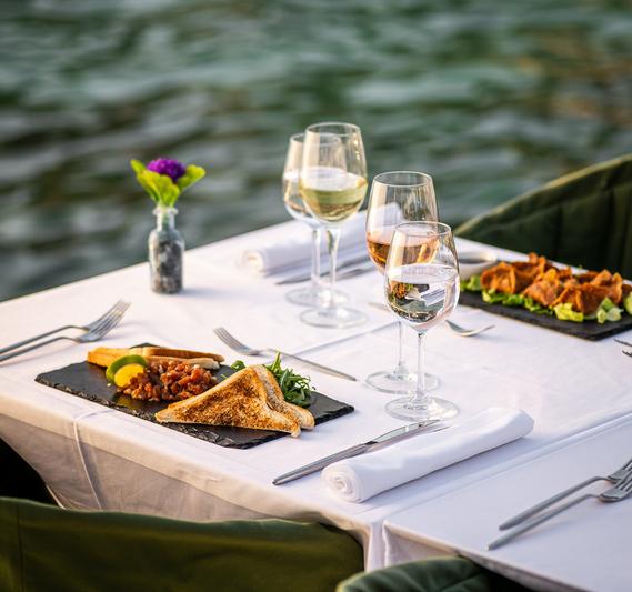 table near beach